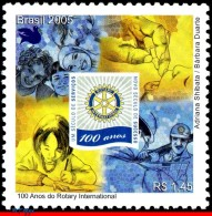 Ref. BR-2952 BRAZIL 2005 - ROTARY, ROTARY INTERNATIONAL,, CENT., MNH,1V Sc# 2952 - Brazil