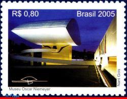 Ref. BR-2955 BRAZIL 2005 ARCHITECTURE, OSCAR NIEMEYER MUSEUM,, FAMOUS PEOPLE, MNH 1V Sc# 2955 - Brazil