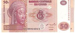 Congo Republic Democratic P.97 50 Francs 2007 Unc - Congo