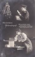 AK Herzliebchens Weihnachtsgruß - Deutscher Soldat Weihnachtsbaum - Patriotika - 1915 (32184) - Navidad