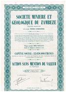 Action Ancienne - Société Minière Et Géologique Du Zambèze - Mines