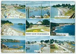 SAINT-QUAY-PORTRIEUX (22) - Multivues (Piscine, Plage, Port, Jetée, Ile ...) -Animée -Circulée 1967 -Scan Recto-verso - Saint-Quay-Portrieux