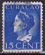 Curacao 1941-42 Koningin Wilhelmina 15 Cent Blauw NVPH 144 - Curaçao, Nederlandse Antillen, Aruba