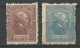 Centenario De Bartolome Mitre Gj 526-527 - Argentinien