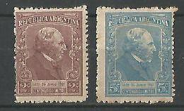 Centenario De Bartolome Mitre Gj 526-527 - Argentina