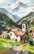 CPM - L - ILLUSTRATEUR S. BONELLI - VILLAGE DE MONTAGNE - Autres Illustrateurs