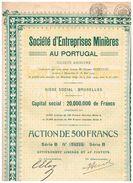 Action Ancienne - Société D'Entreprises Minières Au Portugal - Titre De 1929 - Mines