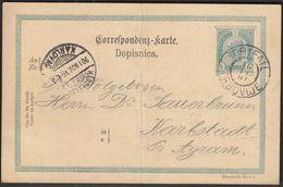 Austria Slovenia Trifail Trbovlje 1901 / Postal Stationery Sent To Karlovac, Croatia - 1850-1918 Imperio