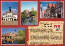 Ansichtskarte, Chronikkarte Mit Wappen Von Lüneburg - Lüneburg