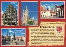 Ansichtskarte, Chronikkarte Mit Wappen Von Braunschweig - Braunschweig