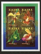 Congo- Zaire**ORCHIDEEN-BLUMEN-KB 4Mkn-Cat 17€-1996-ORCHIDS-FLOWERS-FLEURS-BLOEMEN - Zaire