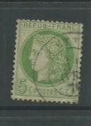 France 1871 5 Cent Green Good Used - 1871-1875 Cérès