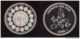 C 003  -  France  -  2008  -  L' Europe Des Pays De L'Euro  Et Carte De L' Europe Des XXVII - Non Classés