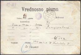 Yugoslavia Donji Miholjac Croatia 1928 / SHS / KuK Insured Mail, Vrijednosno Pismo, Sent To Vienna, Austrija - Briefe U. Dokumente