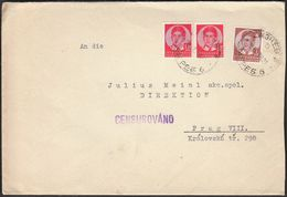 Yugoslavia Zagreb Croatia 1938 / Censorship, Censur / Julio Meinl Label / Sent To Julius Meinl Prague - 1931-1941 Königreich Jugoslawien