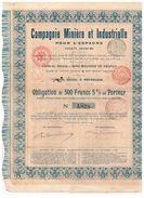 Obligation Ancienne - Compagnie Minière Et Industrielle Pour L'Espagne - Titre De 1903 - Mines