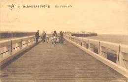 BLANKENBERGHE - Sur L'estacade - Blankenberge
