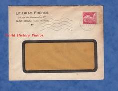 Enveloppe Commerciale Ancienne - SAINT BRIEUC - Maison LE BRAS Frères - 29 Rue Des Promenades - 1955 - Brieven En Documenten