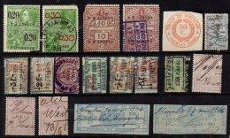 BELGIQUE - Bon Lot De 18 Fiscaux - Revenue Stamps