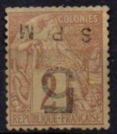 SPM - 5 Sur 4 C. De Janvier 1885 Oblitéré FAUX - St.Pierre Et Miquelon