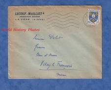 Enveloppe Commerciale Ancienne - LA FERE ( Aisne ) - Maison LECOUF MAILLET Producteur Grainier Grains - 1955 - France