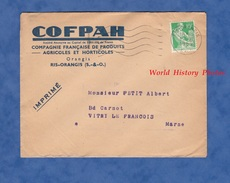 Enveloppe Commerciale Ancienne - RIS ORANGIS - Compagnie Française De Produits Agricoles Et Horticoles - 1959 - COFPAH - France
