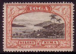 Tonga 1942 - 5/- Value - SG 82 MNH - Gibbons Cat. Value £16.00 - Tonga (1970-...)