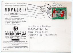 DEAR DOCTOR TYPE PUBL. NOVALGIN ANALGESIC / HOECHST AG - KOENIGSSEE A BEAUTIFUL LAKE IN THE ALPS-CIRCULATED TO INDIA - Germania