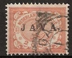 "Ned Indie 1908 Wilhelmina 2 Ct """"JAVA"""" NVPH 65 Gestempeld - Nederlands-Indië"
