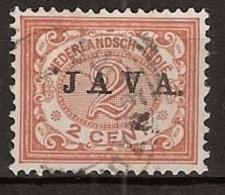 "Ned Indie 1908 Wilhelmina 2 Ct """"JAVA"""" NVPH 65 Gestempeld - Indes Néerlandaises"