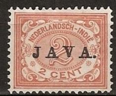 "Ned Indie 1908 Wilhelmina 2 Ct """"JAVA"""" NVPH 65 Ongestempeld - Nederlands-Indië"
