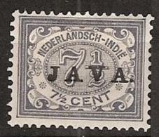 "Ned Indie 1908 Wilhelmina 7,5 Ct """"JAVA"""" NVPH 69 Ongestempeld - Nederlands-Indië"