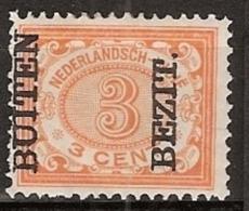 """Ned Indie 1908 Wilhelmina 3 Ct """"""""BUITEN BEZIT"""""""" NVPH 85, Postfrisch/MNH/** - Nederlands-Indië"""