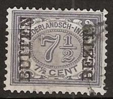 """Ned Indie 1908 Wilhelmina 7.5 Ct """"""""BUITEN BEZIT"""""""" NVPH 87, Gestempeld - Indes Néerlandaises"""