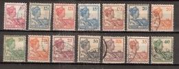 Ned Indie 1913 Wilhelmina NVPH 115-128 Gestempeld/cancelled - Indes Néerlandaises
