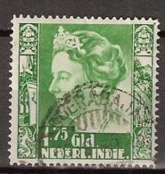 Ned Indie 1934 Wilhelmina (no Watermark) NVPH 209 Gestempeld/ Cancelled. - Nederlands-Indië
