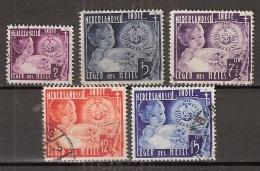 Ned Indie 1936 Leger Des Heils NVPH 221-225 Gestempeld, Cancelled - Indes Néerlandaises