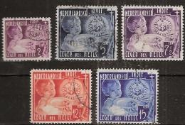 Ned Indie 1936 Leger Des Heils NVPH 221-225 Gestempeld, Cancelled - Niederländisch-Indien