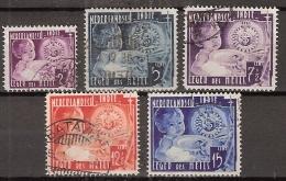 Ned Indie 1936 Leger Des Heils NVPH 221-225 Gestempeld, Cancelled - Nederlands-Indië