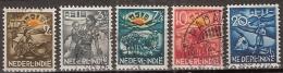 Ned Indie 1937 ASIB NVPH 230-234 Gestempeld/ Cancelled - Luxe - Niederländisch-Indien