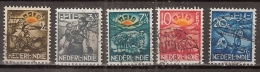 Ned Indie 1937 ASIB NVPH 230-234 Gestempeld/ Cancelled - Luxe - Indes Néerlandaises