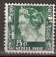 Ned Indie 1938 Wilhelmina Met Watermerk (with Watermark) NVPH 256 Gestempeld/ Cancelled - Nederlands-Indië