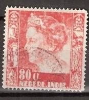 Ned Indie 1938 Wilhelmina Met Watermerk (with Watermark) NVPH 262 Gestempeld/ Cancelled - Indes Néerlandaises