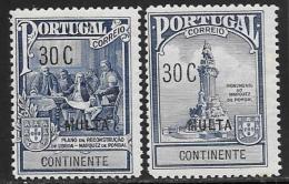 Portugal Scott # RAJ2-3 Mint Hinged Pombal Postal Tax Due, 1925 - 1910-... Republic