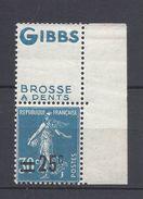 France Publicité - YT N° 217 - Neuf Avec Charnière - Gibbs - Advertising