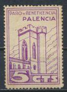 °°° SPAIN - PALENCIA PARO Y BENEFICENCIA SOFIMA GUERRE CIVILE °°° - Vignette Della Guerra Civile