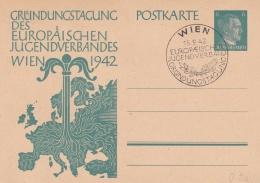 Third Reich 1942 Postal Stationary Gründungstagung Des Europäischen Jugendverbandes Wien - Used (DD9-34) - Deutschland