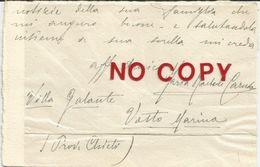 Bartoli Caruso Maria, Testo Su Cartoncino Autografo Firmato, Acclusa La Busta Annullata Istonio Marina 16.8.1938. - Autographes