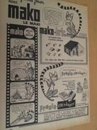 Page De Revue Des Années 60/70 : PUBLICITE  MAKO BRIC , Format :  Page A4 - Other Collections