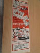 Page De Revue Des Années 60/70 : PUBLICITE  MAKO MOULAGES POPEYE , Format :  1/2 Page A4 - Autres Collections